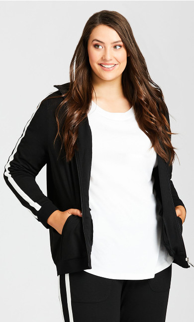 Women/'s Plus Size Limited Collection Black /& Nude Pink Colour Block Lounge Top