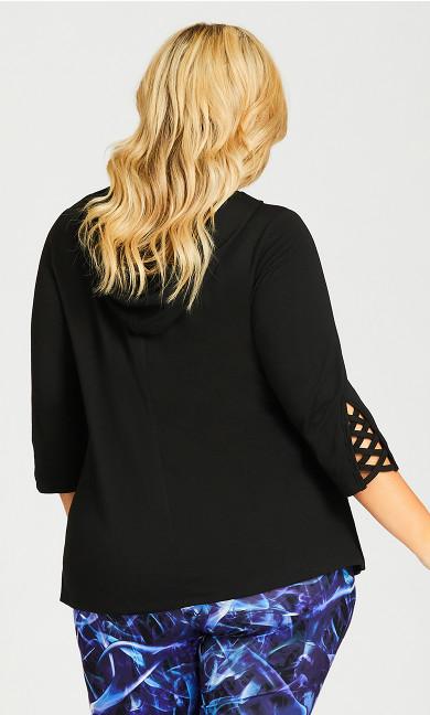 Plain Hood Top - black