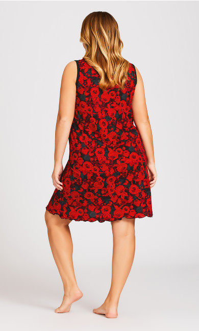 Roses Chemise - red