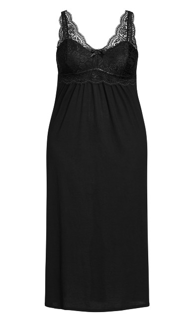 Sexy Maxi Sleep Dress - black
