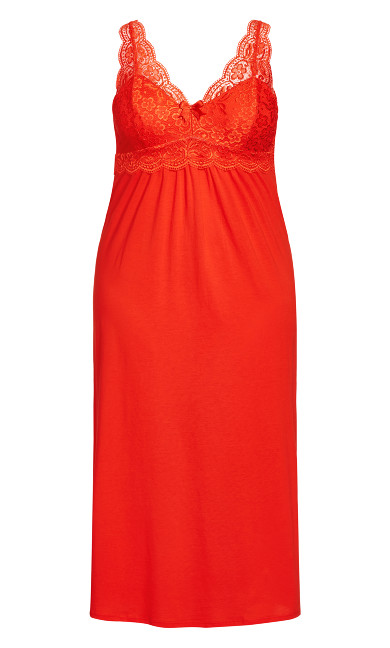 Sexy Maxi Sleep Dress - red