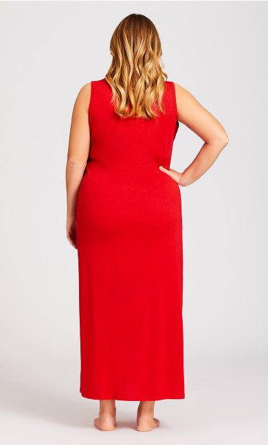 Sing Maxi Sleep Dress - red