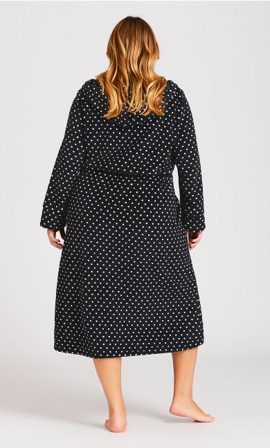 Zip Spot Robe - black