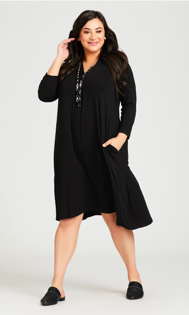 Plus Size Lylah Dress - black