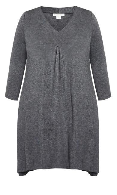 Lylah Dress - charcoal