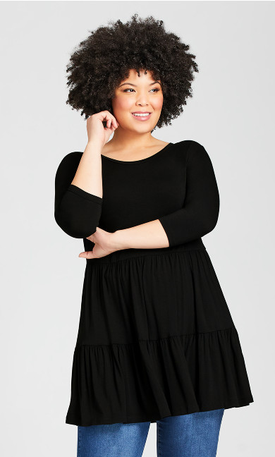 Plus Size Amaya Tunic - black