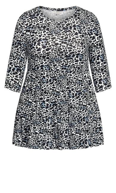 Amaya Print Tunic - smoke leopard