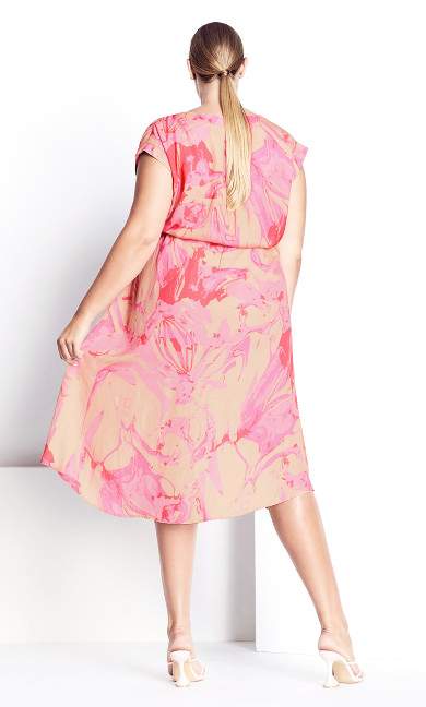 Marble Dress - pink marble