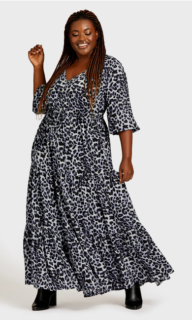 Maisie Maxi Dress - animal print