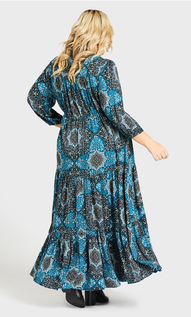 Maisie Maxi Dress - petrol print