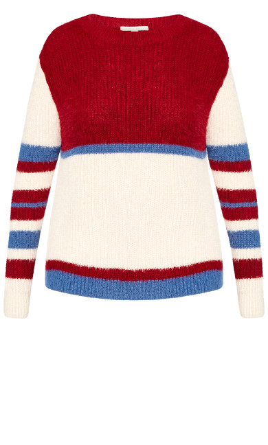Remy Sweater - red stripe