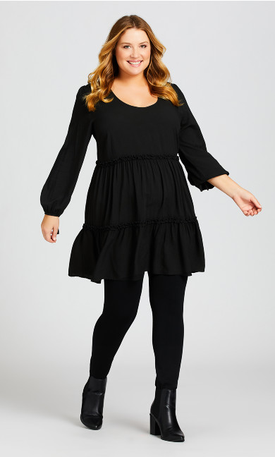 Plus Size Jessa Plain Dress - black