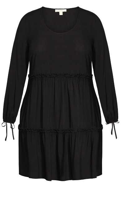 Jessa Plain Dress - black