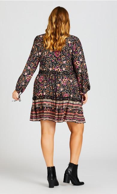 Jessa Print Dress - vine print