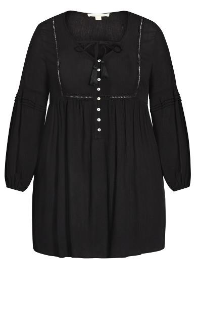 Raylee Plain Tunic - black