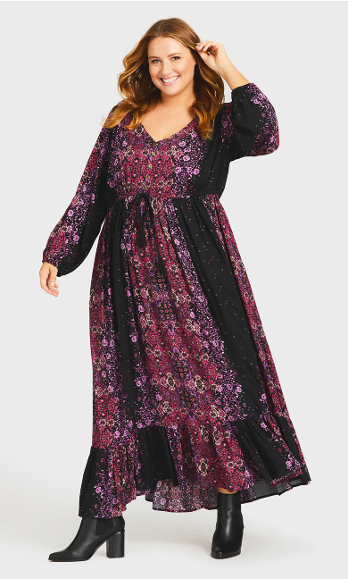 Plus Size Harmony Maxi Dress - black