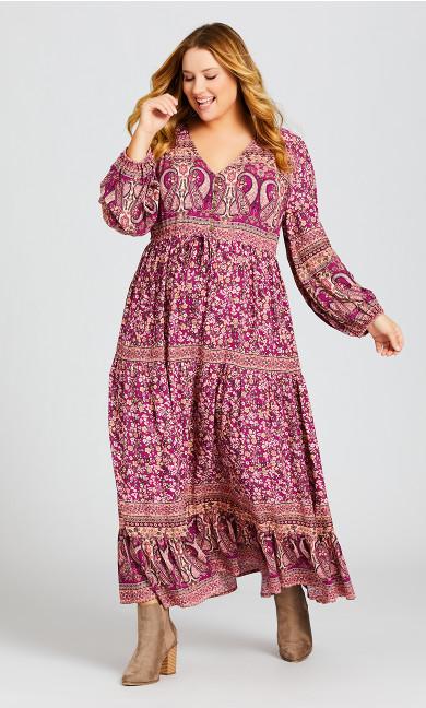 Harmony Maxi Dress - pomegranate