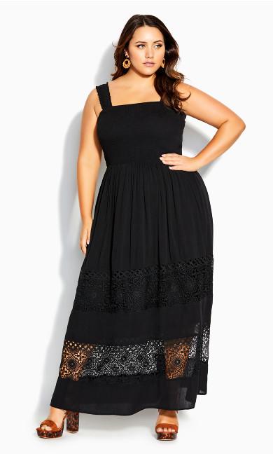 By The Beach Maxi Dress - black