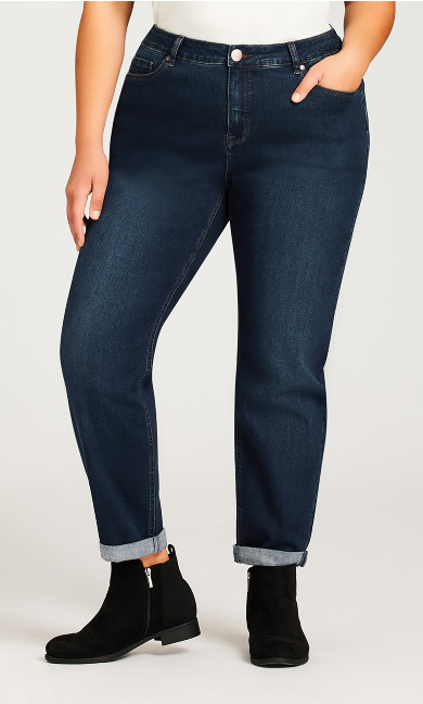 Girlfriend Stretch Jean Dark Wash - average