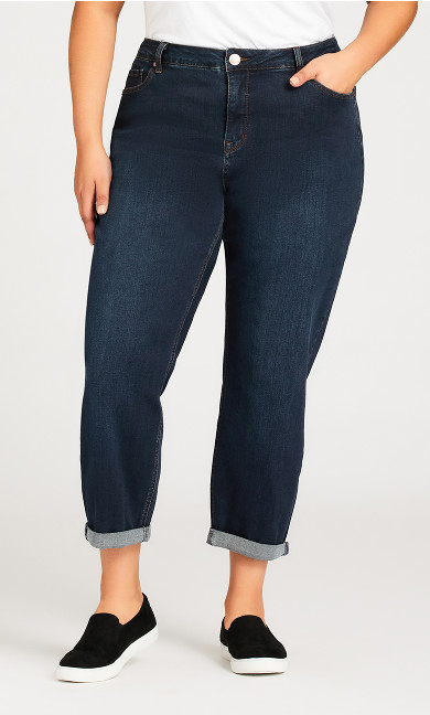 Girlfriend Stretch Jean Dark Wash - petite