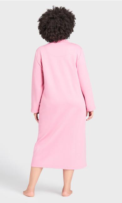 Quilt Zip Robe - pink