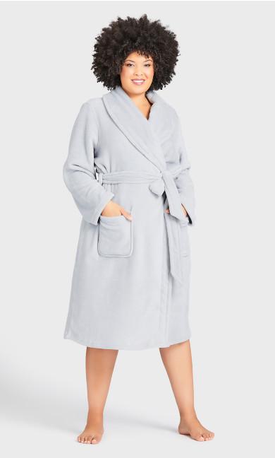 Fleece Robe - gray
