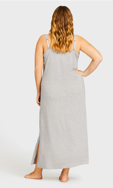 Sexy Maxi Sleep Dress - gray