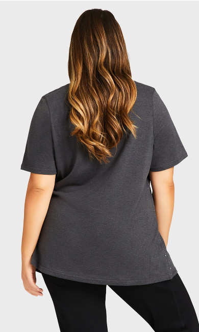 Star Top - charcoal