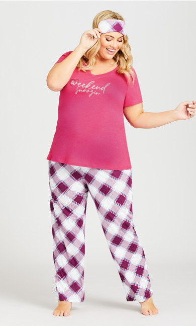 Plus Size Weekend Sleep Set - pink