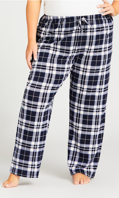 Check Sleep Pant - navy