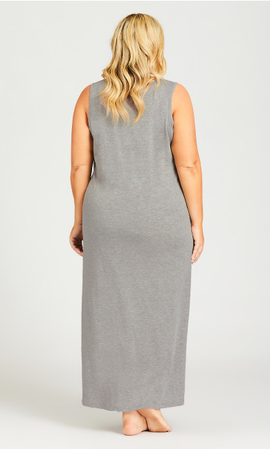 Cold Outside Maxi Sleep Dress - gray