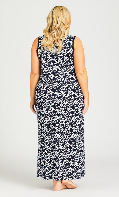 Butterfly Maxi Sleep Dress - navy