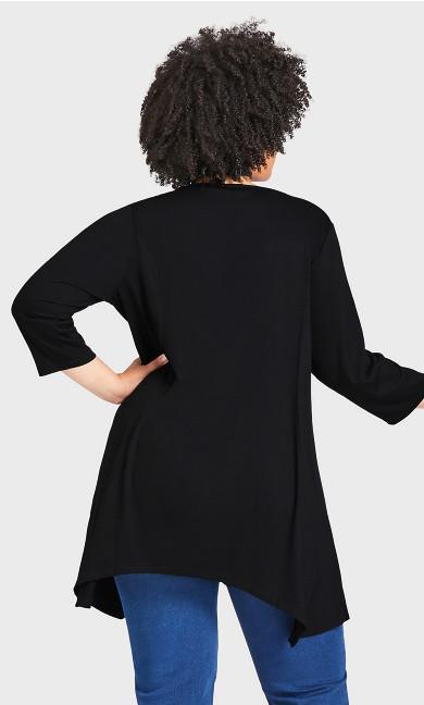 Willows Longline Tunic - black
