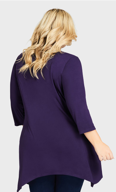 Willows Longline Tunic - purple