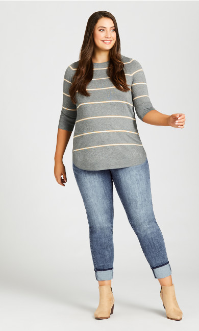 Plus Size Turn Up Jean Light Wash - tall