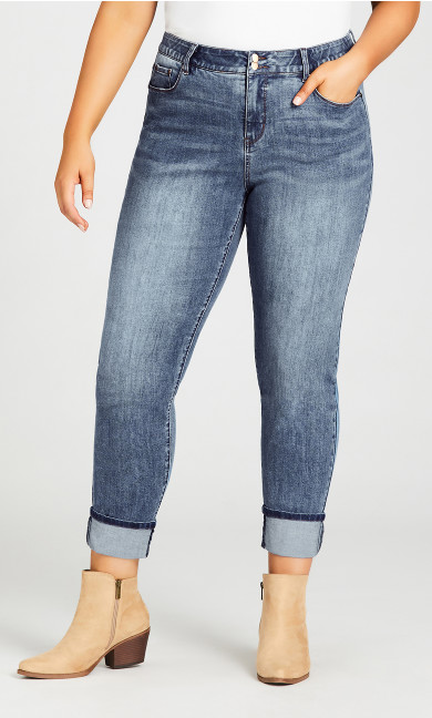 Turn Up Jean Light Wash - tall