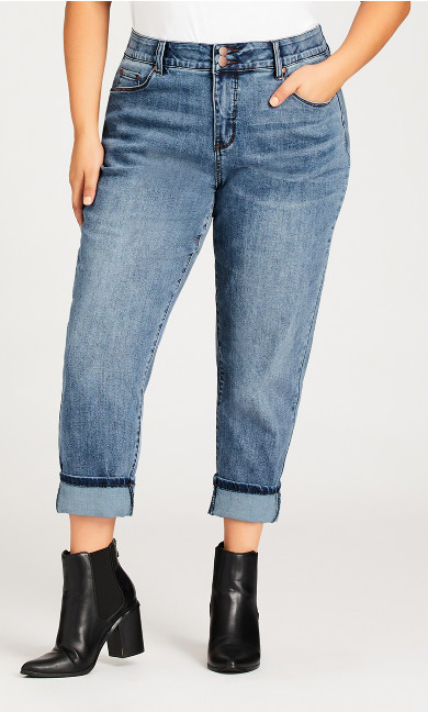 Turn Up Jean Light Wash - petite