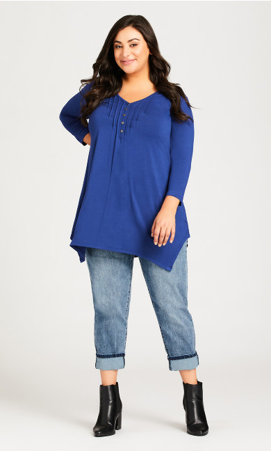 Plus Size Turn Up Jean Light Wash - petite