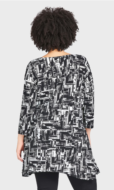 Cottage Grove Top - black graphic