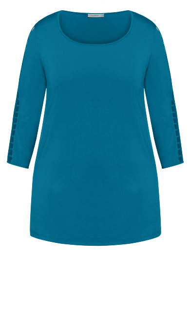 Oak Lane Longline Top - teal