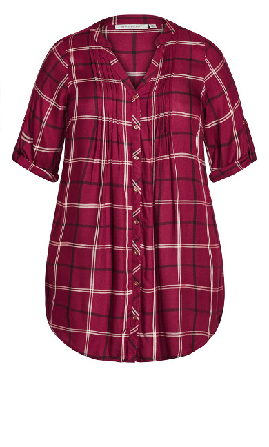 Priory Longline Shirt - berry