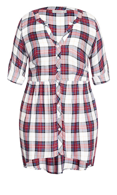 Pleasant Shirt - red white check