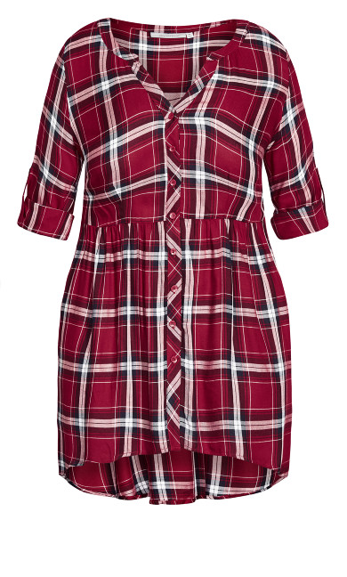 Pleasant Shirt - red check