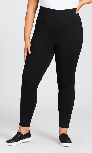 Ponte Pull-On Pant Black - tall
