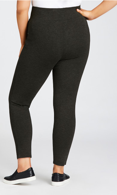 Ponte Pull-On Pant Charcoal - tall