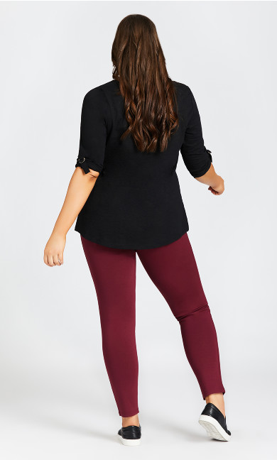 Ponte Pull-On Pant Plum - tall