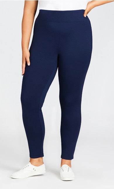 Ponte Pull-On Pant Navy - tall