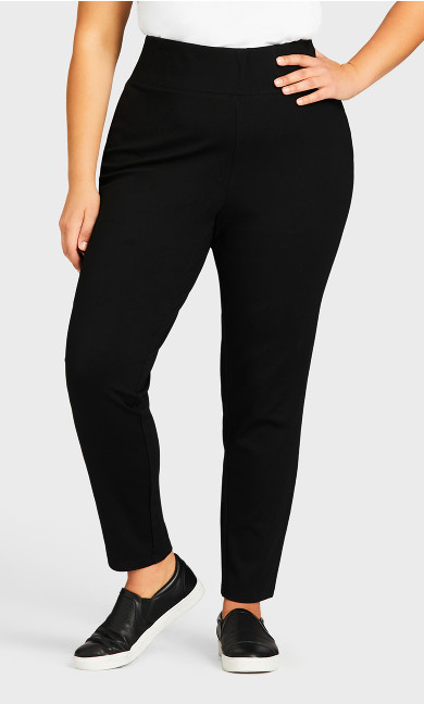 Ponte Pull-On Pant Black - average