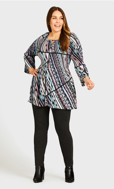 Plus Size Ponte Pull-On Pant Charcoal - average