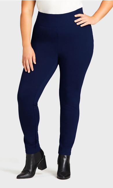 Ponte Pull-On Pant Navy - average